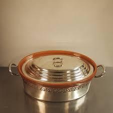 cocotte terre cuite wiskeman cocotte terre cuite émaillée monture en métal argenté