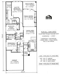 apartments narrow house plans with garage best floor plans