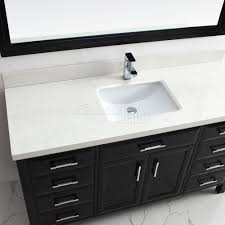 Bathroom Vanities 22 Inches Wide by Calais 60 Inch Transitional Single Sink Bathroom Vanity Espresso