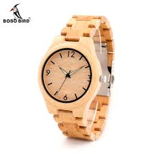 bobo bird g25 men luminous needles wooden watches fashion casual