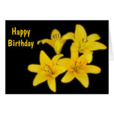 Yellow Lilies Yellow Lilies Birthday Gifts On Zazzle