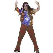 60s Halloween Costumes Mens Boys Dead 60s Hippie Hipster Zombie Halloween Halloween Scary