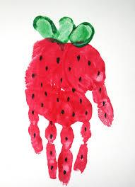 thanksgiving footprint crafts strawberry handprint footprint and handprint crafts pinterest