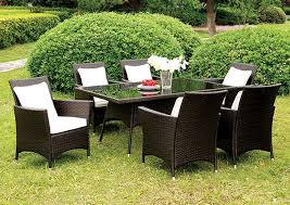 Glass Top Patio Dining Table Ny Furniture Direct Freeport Ny Leodore Espresso Glass Top