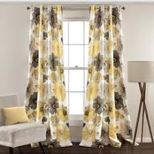 pale yellow curtain panels