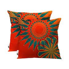 Outdoor Moroccan Furniture by Handmade Boho Outdoor Patio Throw Pillow Set Of 2 Orange