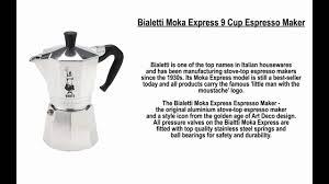 espresso maker bialetti moka express 9 cup espresso maker youtube