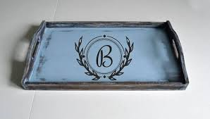 monogrammed serving tray 101 best personalized serving trays custom tray personalized