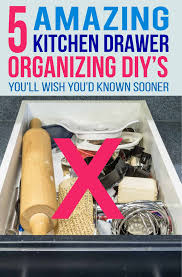how to organize kitchen drawers diy 8 easy diy kitchen drawer organizer ideas diy drawer