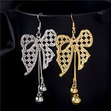 earrings images falling bow knot earring