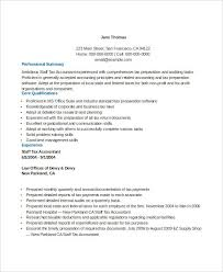Tax Accountant Resume Sample by Sample Resume For Corporate Accountant Templates