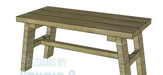 Rustic Outdoor Bench Plans Build A Rustic Bench U2013 Designs By Studio C