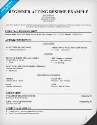 beginner resume template free beginner acting resume sle resumecompanion acting