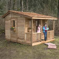 house kits lowes shop outdoor living today cozy cabin wood playhouse kit at lowes com