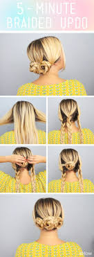 cute hairstyles you can do in 5 minutes this adorable updo takes only 5 minutes cute for a work or out with