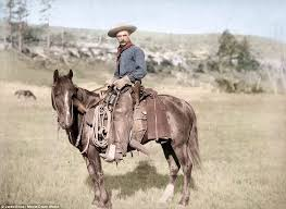 jared enos colorised historical pictures wild west daily mail
