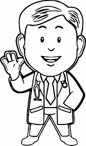 doctor coloring page doctor page coloring page of doctor in