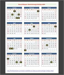 bursa malaysia stock exchange holidays 2014 holidays tracker