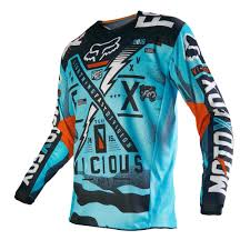 youth motocross jerseys fox racing 2016 180 vicious jersey aqua available at motocross giant
