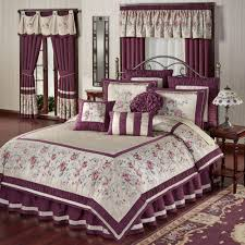 Purple Floral Comforter Set Floral Comforters Touch Of Class