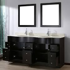 Discount Bathroom Vanities With Tops by Zoe 72 Inch Contemporary Double Vanity Nougat Quartz Top Espresso
