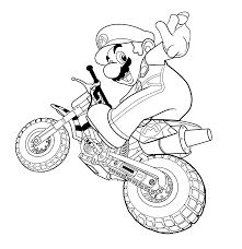 mario kart coloring pages for kids coloring home