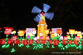 china lights in city park