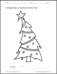christmas tree coloring sheet kids free print pdf kid