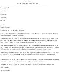social media manager cover letter example u2013 cover letters and cv