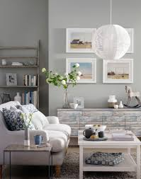 pale grey living room with upcycled sideboardthe weathered style