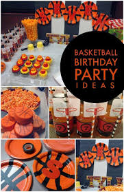 basketball party ideas boy s basketball themed birthday party spaceships and laser beams