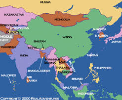 map of countries of asia asia destinations from retire asia