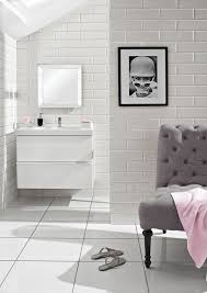 Brilliant White Tile Wall Bathroom Is Perhaps Only Space When A - Bathrooms with white tile