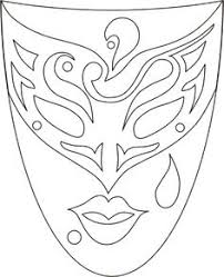 mask carnival fantasy coloring pages colouring detailed