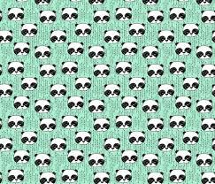 panda nursery baby mint panda fabric pandas fabric kawaii