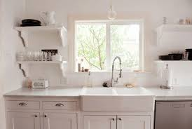 kitchen pale kitchen with open shelving also soap dispenser