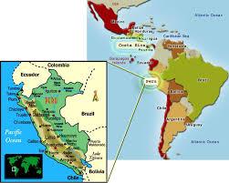 map of peru and south america travelingdude