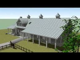 Prefab Barns With Living Quarters 3d Model Animation Of A Horse Barn With Living Quarters Ft Worth
