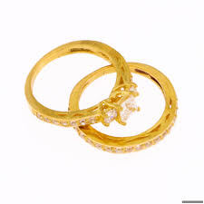 gold wedding rings sets 22ct indian gold wedding ring set 313 99 rings indian