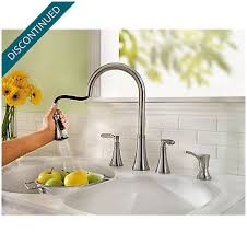 2 handle pull kitchen faucet stainless steel petaluma 2 handle pull kitchen faucet f