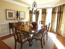 curtain ideas for dining room window treatments for bay windows in dining room of the
