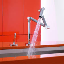 Articulating Kitchen Faucet Karbon Articulating Kitchen Faucet From Kohler 6227 Cp 1600 Popup