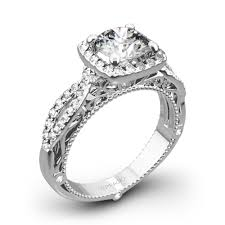 platinum halo engagement rings verragio 4 prong cushion halo engagement ring 1808