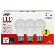 feit a19 40 watt led light bulb 2 pack 3000k soft white target