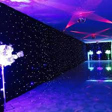 wedding backdrop size high quality blue white colors shiny led curtain wedding