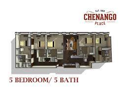 5 Bedroom Apartment Floor Plans Chenango Place Luxury Waterfront Student Housing In Binghamton Ny