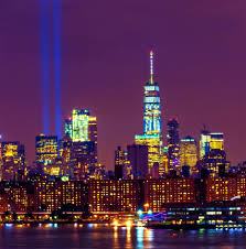 world trade center lights tribute in light test over wtc inga s angle