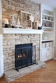 Stacked Stone Around Fireplace by Faux Stacked Stone Fireplace Fireplace Ideas