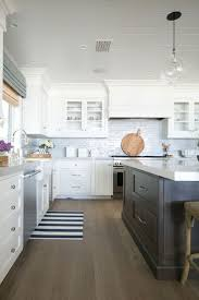 White Kitchen Dark Island Best 25 Classic White Kitchen Ideas On Pinterest Wood Floor
