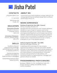 resume programmer education resumes guide resumes 2017